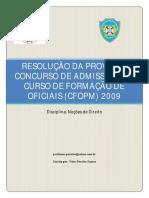 Resolução Da Prova Do Cfo Pmba 2009 - Blog Abordagem Policial