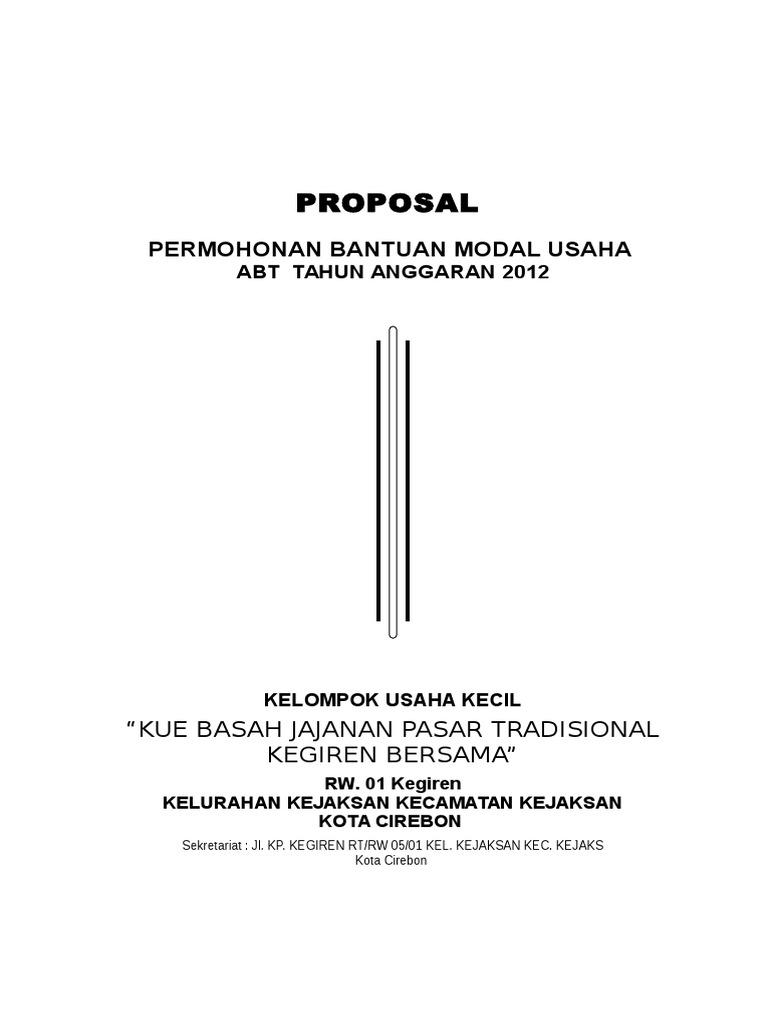 Contoh Proposal Bantuan Modal Usaha Perorangan Doc Gambaran
