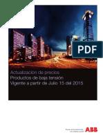 ABB Lista de Precios INDUSTRIA Julio 16 2015
