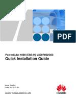 PowerCube 1000 (ESS-H) Quick Installation Guide (V300R002C03_Draft a)