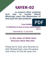 PRAYER 2  Of Imam Zainul Abdeen (a.s.)