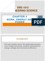 Chapter 4Work Energy & Power