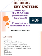 Protein and Peptide Drug Delivery Systems