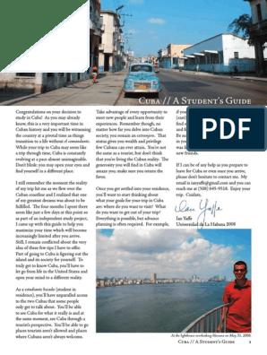 Cuba Student Travel Guide Havana Cuba
