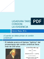 Ligadura Tardia de Cordon