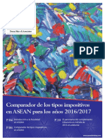 Comparador de Los Tipos Impositivos en ASEAN Para Los Años 2016/ 2017