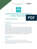 Centro Internacional de Mejoramiento de Ma z y Trigo CIMMYT
