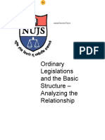 Ordinary Legislation and the Basic Structure - Analyzing the Relationship