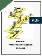 UNIDAD I, Procesos de Conversión de Masas