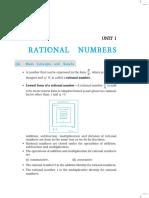 8 Maths NCERT Exemplar Chapter 1 Rational Numbers