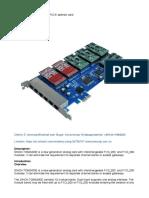 SinoV-TDM2400E 24 Fxo_fxs PCI-E Asterisk Card