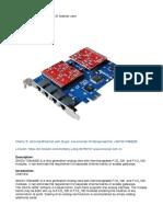 SinoV-TDM400E 4fxs_fxo PCI-E Asterisk Card