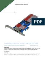 SinoV-TDM810E 8 Fxs_fxo Pci-e Asterisk Card for 2U Classis h...