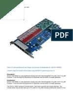 SinoV-1600E 16 Fxs_fxo Asterisk Card
