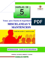 Introduccion Charlas de Seguridad Miscelaneas y Mantencion