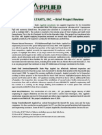 APPLIED CONSULTANTS, INC. – Brief Project Review