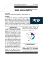 Interference Cancellation by Repeated Filtering in the Fractional Fourier Transform Domain Using Mean-Square Error Convergence