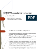 Modern Manufacturing Technology
