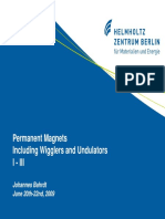 Permanent Magnets Including Wigglers and Undulators Part I-III