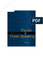 The Art of Public Speaking 10ed