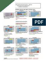 Calendário Escolar Ano Letivo 2010