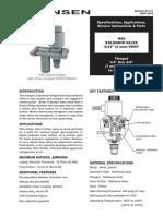 Valvula de Solenoide HS6 Bulletin