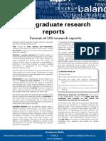 Undergraduate Research Reports Update 051112
