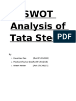 Swot Analysis of Tata Steel