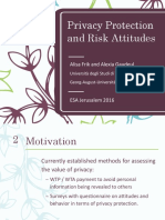 Privacy Protection and Risk Attitudes