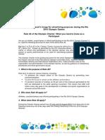 El reglamento del COI que incluye la Regla 40