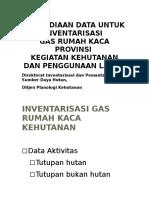 Penyediaan Data GRK Kehutanan - Kemenhut - 3 April 2014