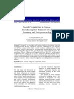 Social Cooperatives in Greece