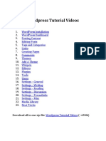 Wordpress Tutorial Videos.pdf