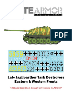 Elite Armor Late Jagdpanther Decal Sheet Instructions