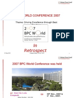 2007 BPC Conference Summary