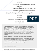 Carolina Power and Light Company v. Dynegy Marketing and Trade, Carolina Power and Light Company v. Dynegy Marketing and Trade, 415 F.3d 354, 4th Cir. (2005)