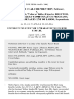 Bill Branch Coal Corporation v. Shirley Sparks, Widow of Willard Sparks Director, Office of Workers' Compensation Programs, United States Department of Labor, 213 F.3d 186, 4th Cir. (2000)