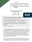 Pat Thompson Don Thompson v. Talquin Building Products Company, 928 F.2d 649, 4th Cir. (1991)