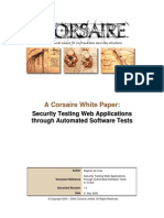 Security Testing Web Applications Through Automated Software Tests
