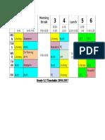 g5 2 timetable 2016-2017
