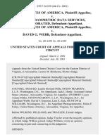United States v. Photogrammetric Data Services, Incorporated, United States of America v. David G. Webb, 259 F.3d 229, 4th Cir. (2001)