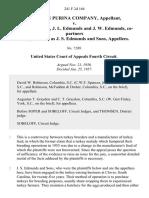 Ralston Purina Company v. J. S. Edmunds, J. L. Edmunds and J. W. Edmunds, Co-Partners Doing Business as J. S. Edmunds and Sons, 241 F.2d 164, 4th Cir. (1957)