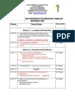 PROGRAMA PARA RESIDENCIA DE MEDICINA FAMILIAR  segundo año 2010