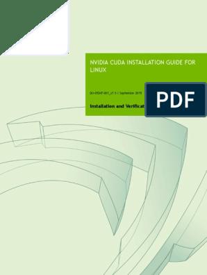 CUDA Installation Guide Linux   Installation (Computer