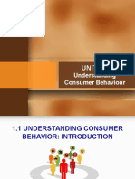 Unit 1 Understanding Consumer Behaviour