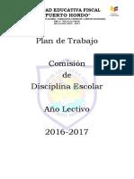 Plan de Trabajo Comision de Disciplina
