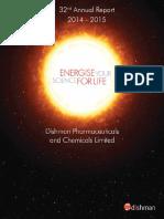 Dish Pharma AnnualReport 2014 15