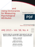Validating and Using Dictionaries for Measuring Psychological Attributes
