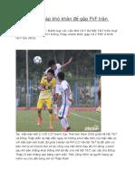 U17 Dong Thap Kho Khan de gap PVF Tran Chung Ket