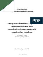 Casula - PNL Applicata a Problemi Comunicazione